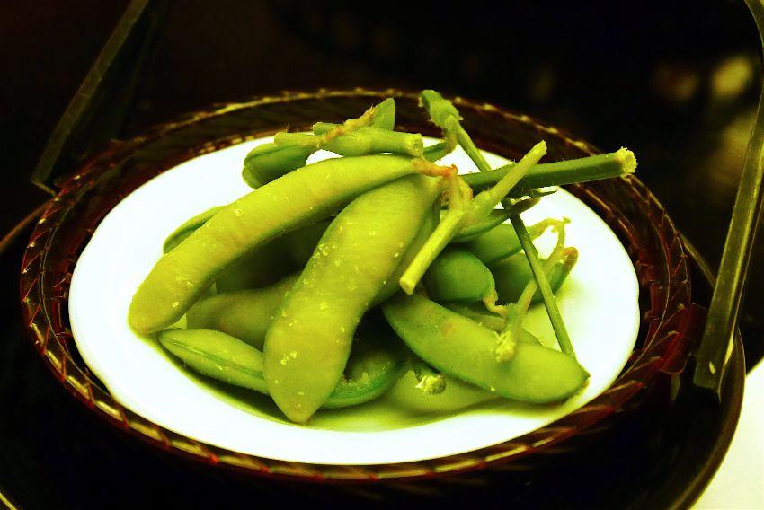 夏のお膳に必ず登場する枝豆。これが弥彦の夏の味です。